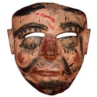 Máscara de Pilato, Moros y Cristianos o Santiagueros, Puebla México