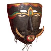 Máscara de Diablo Colmilludo, Los Diablos Colmilludos, Oaxaca México