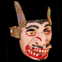 Máscara de Mojiganga de Diablo, Danza de los Diablos, Guerrero México