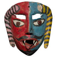 Máscara deMojiganga de Diablo,Danza de los Diablos, Guerrero México