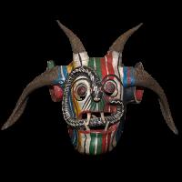 Máscara de Mojiganga de Diablo,Danza de los Diablos, Guerrero México