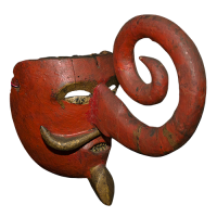 Máscara de Turco Moro, Danza de los Pilatos, Puebla México