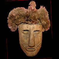 Máscara de Huehuetón,LosHuehuetones, Oaxaca México